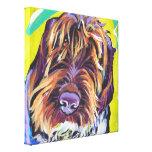 Arte del perro del estallido de Spinone Italiano e Lona Estirada Galerias