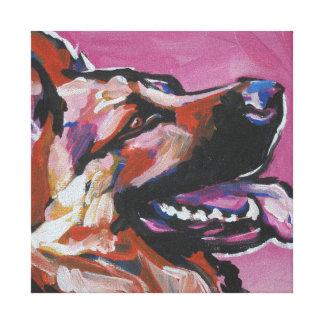 Arte del perro del estallido del pastor alemán en  impresion de lienzo
