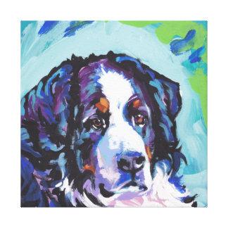 Arte del perro del estallido del perro de montaña impresion de lienzo