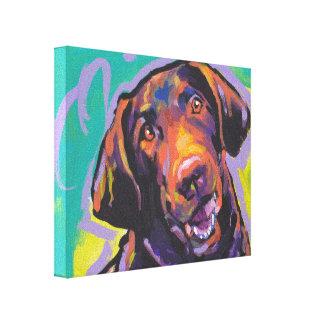 Arte del perro del estallido del perro perdiguero  impresiones en lona