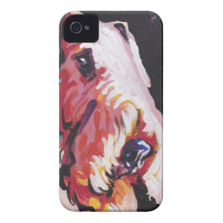 arte del perro del estallido del terrier del aired iPhone 4 carcasa