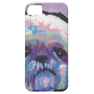 arte del perro del estallido del tzu de shih iPhone 5 coberturas