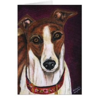 Arte del perro del galgo - derechos tarjetón