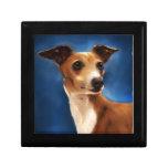 Arte del perro del galgo italiano - Magnifico Caja De Joyas
