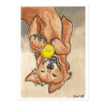 Arte del perro del golden retriever de la postales