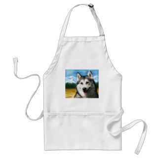 Arte del perro del husky siberiano - solar delantal