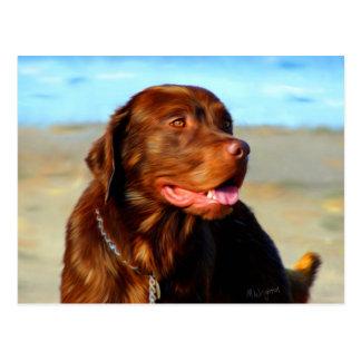 Arte del perro del labrador retriever - Bosco Postal
