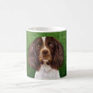 Arte del perro del perro de aguas de saltador ingl taza