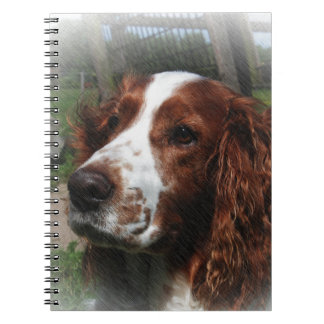 Arte del perro del perro de aguas de saltador libretas espirales