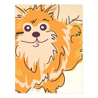 Arte del perro del perro de Pomerania de Postal