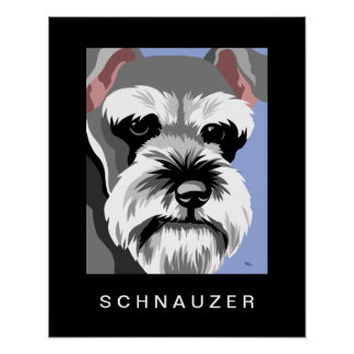 Arte del perro del Schnauzer Impresiones
