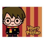Arte del personaje de dibujos animados de Harry Tarjeta Postal