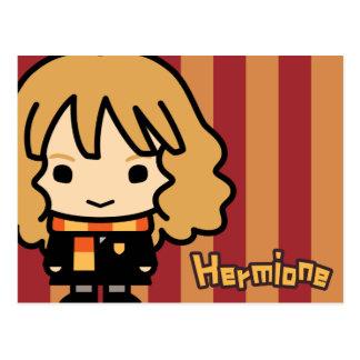 Arte del personaje de dibujos animados de Hermione Postal