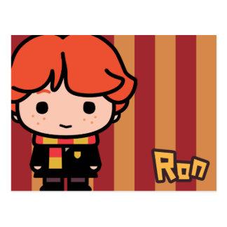 Arte del personaje de dibujos animados de Ron Tarjeta Postal