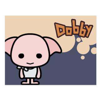 Arte del personaje de dibujos animados del Dobby Tarjeta Postal