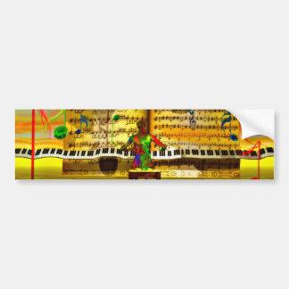 Arte del piano etiqueta de parachoque