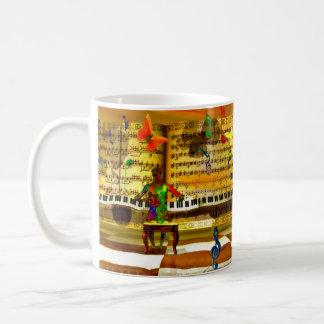 Arte del piano taza básica blanca