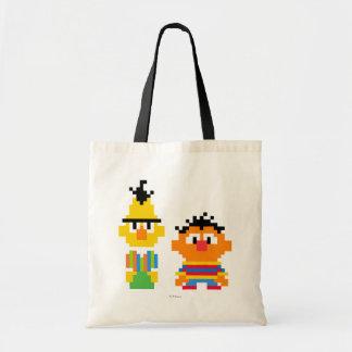 Arte del pixel de Bert y de Ernie Bolsa Tela Barata