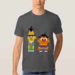 Arte del pixel de Bert y de Ernie Camisas