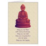 Arte del pixel de Buda de la puesta del sol Felicitaciones