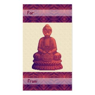 Arte del pixel de Buda de la puesta del sol Tarjeta De Visita