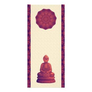 Arte del pixel de Buda de la puesta del sol Tarjeta Publicitaria A Todo Color