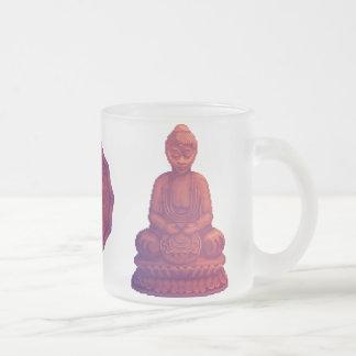 Arte del pixel de Buda de la puesta del sol Tazas De Café