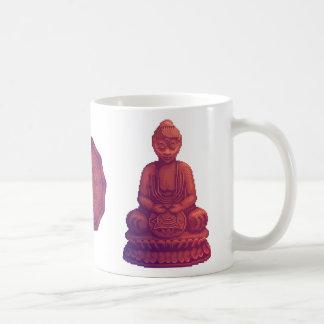 Arte del pixel de Buda de la puesta del sol Taza De Café
