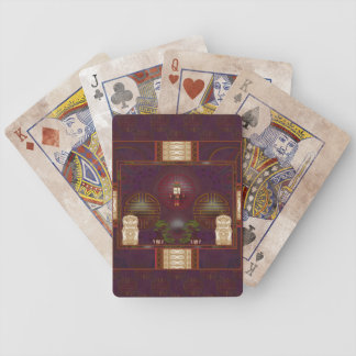 Arte del pixel de la capilla del perro del león barajas de cartas