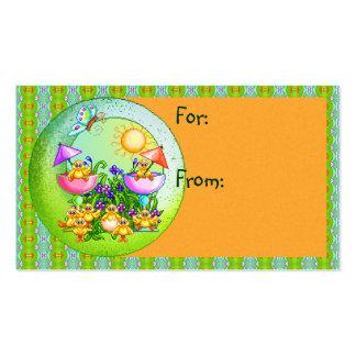 Arte del pixel de la cosa del polluelo tarjeta de visita