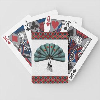Arte del pixel de la fan del dragón verde del baraja de cartas
