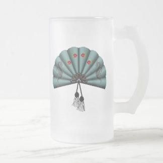 Arte del pixel de la fan del dragón verde del taza de cristal