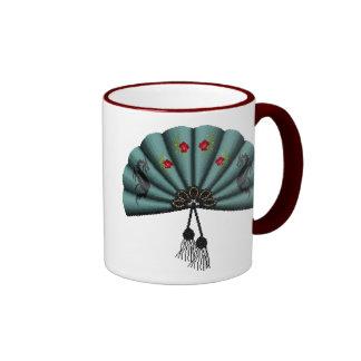 Arte del pixel de la fan del dragón verde del taza de dos colores