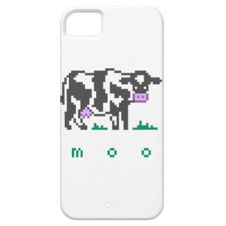 Arte del pixel de la vaca del MOO iPhone 5 Cárcasa