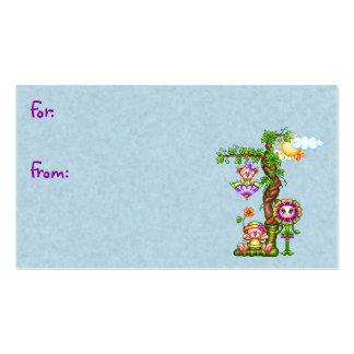 Arte del pixel de los amigos del jardín tarjeta de negocio