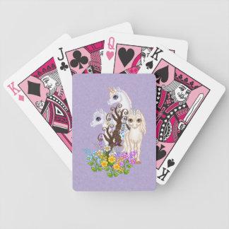 Arte del pixel de los amigos del unicornio barajas de cartas