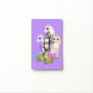 Arte del pixel de los amigos del unicornio cubiertas para interruptor