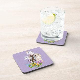 Arte del pixel de los amigos del unicornio posavasos de bebidas