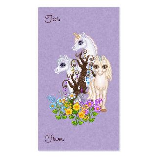 Arte del pixel de los amigos del unicornio tarjetas de visita