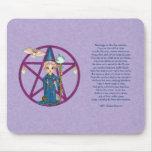 Arte del pixel de Penctacle de la mujer de Witchy Alfombrillas De Ratón