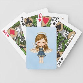 Arte del pixel del ángel azul baraja cartas de poker