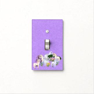 Arte del pixel del jardín del unicornio placas para interruptor