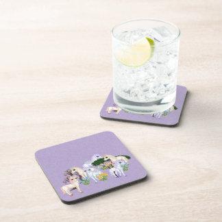 Arte del pixel del jardín del unicornio posavasos de bebidas