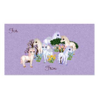 Arte del pixel del jardín del unicornio tarjetas personales