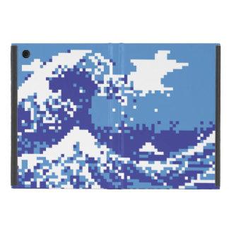 Arte del pixel del pedazo del azul 8 del tsunami iPad mini coberturas