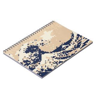 Arte del pixel del pedazo del tsunami 8 del pixel libros de apuntes