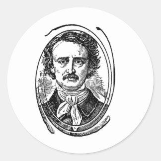 Arte del Poe 2~~~Edgar Allen Poe~~~~Altered Etiquetas Redondas