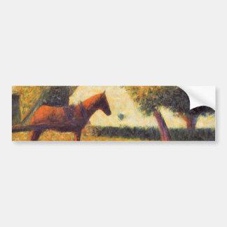 Arte del pointillist de la pintura del caballo y d pegatina para auto