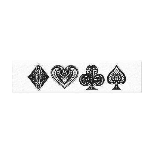 Arte del póker impresión en lona estirada
