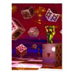 Arte del póker postales